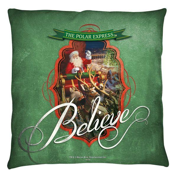 Christmas Polar Express Santa Throw Pillow FB Print