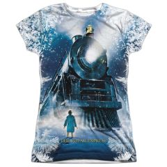 Christmas Polar Express Journey FB Print Junior T-shirt