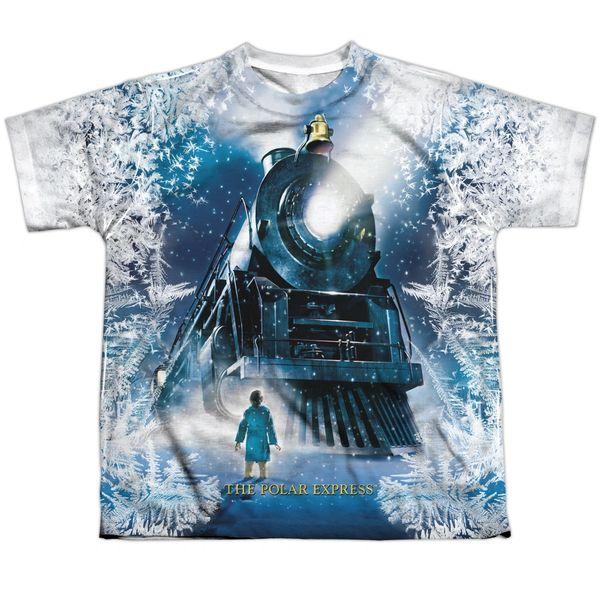 Christmas Polar Express Journey FB Print Youth T-shirt