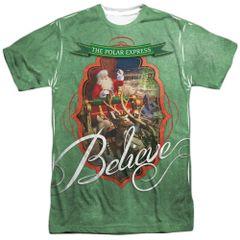 Christmas Polar Express Santa FB Print T-shirt