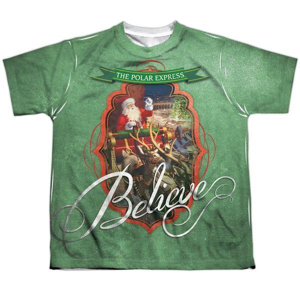 Christmas Polar Express Santa FB Print Youth T-shirt