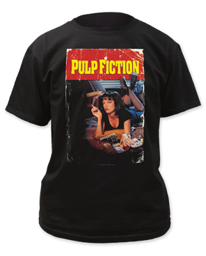 Pulp Fiction Pulp Fiction Black Short Sleeve Adult T-shirt
