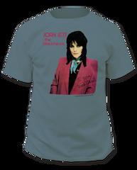 Joan Jett I Love Rock and Roll Garment Dyed Blue Grass Adult T-shirt