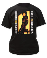 Joan Jett I Hate Myself For Loving You Black Short Sleeve Adult T-shirt