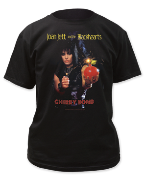 Joan Jett Cherry Bomb Black Short Sleeve Adult T-shirt