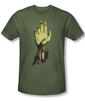 Zombie Need A Hand Military Green Short Sleeve Adult T-shirt