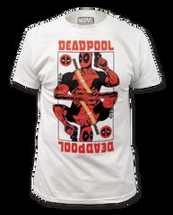 Deadpool Wild Card White Cotton Short Sleeve Adult T-shirt