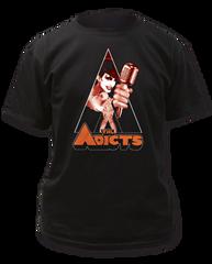 The Adicts Clockwork Monkey Black Cotton Short Sleeve Adult T-shirt