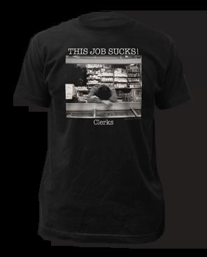 Clerks This Job Sucks Black Short Sleeve Adult T-shirt