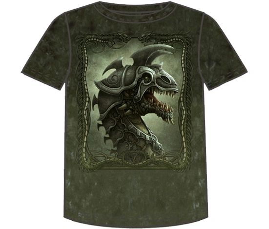 Fantasy Battle Dragon Short Sleee Adult T-shirt
