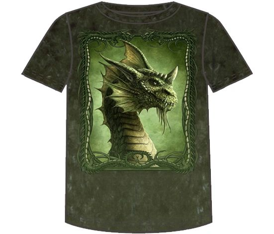 Fantasy Green Dragon Short Sleeve Adult T-shirt