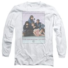 The Breakfast Club Poster White Long Sleeve Adult T-shirt