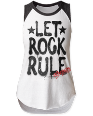 Aerosmith Let Rock Rule Sleeveless Raglan Womens T-shirt