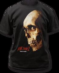 Evil Dead 2 Color Poster Black 100% Cotton Adult T-shirt