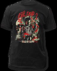 Evil Dead 2 Dead By Dawn Black 100% Cotton Adult T-shirt