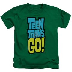Teen Titans Go Logo Kelly Green Short Sleeve Juvenile T-shirt