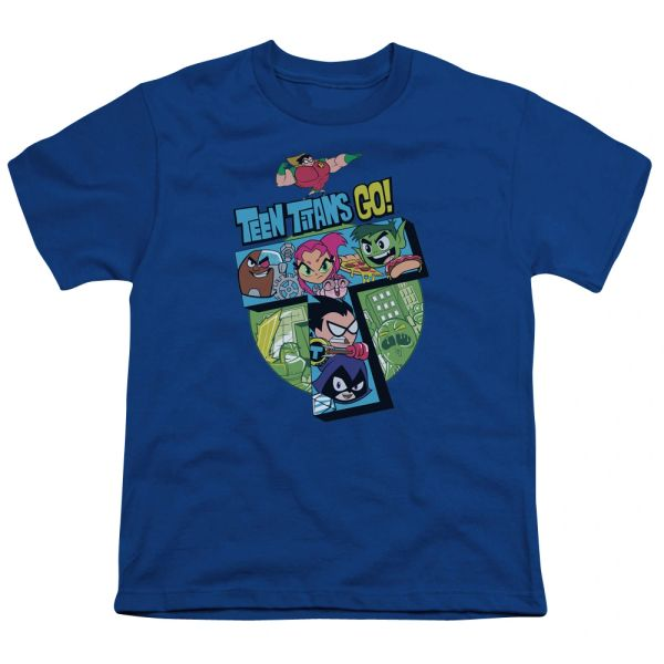 Teen Titans Go T Royal Blue Short Sleeve Youth T-shirt