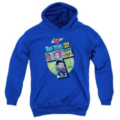 Teen Titans Go T Royal Blue Youth Pull-Over Hoodie