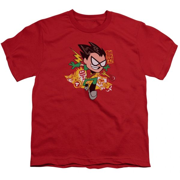 Teen Titans Go Robin Red Short Sleeve Youth T-shirt