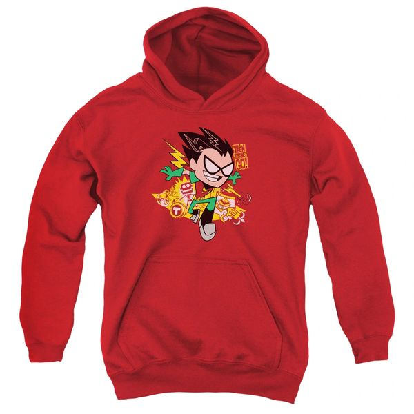 Teen Titans Go Robin Red Youth Pull-Over Hoodie