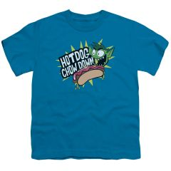 Teen Titans Go Chowdown Turquoise Short Sleeve Youth T-shirt