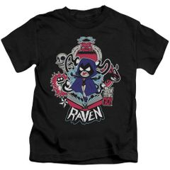 Teen Titans Go Raven Black Short Sleeve Juvenile T-shirt