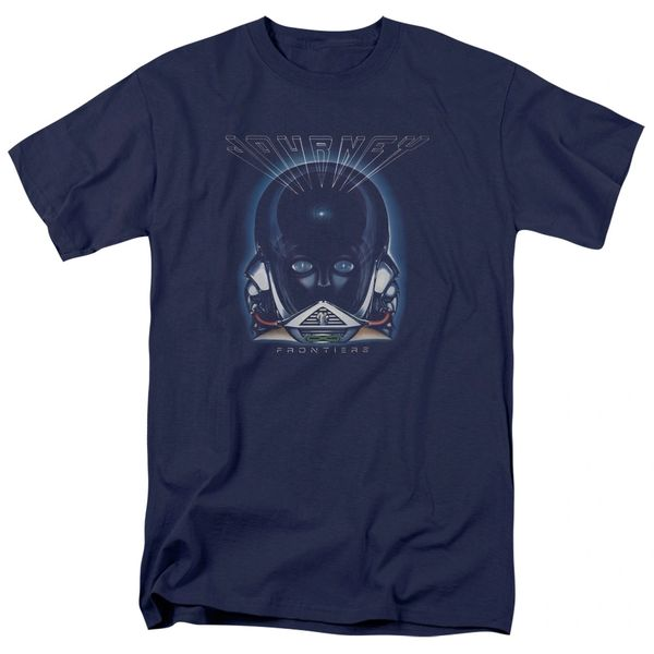 Journey Frontiers Cover Navy 100% Cotton Short Sleeve Adult T-shirt