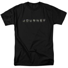 Journey Repeat Logo Black 100% Cotton Short Sleeve Adult T-shirt