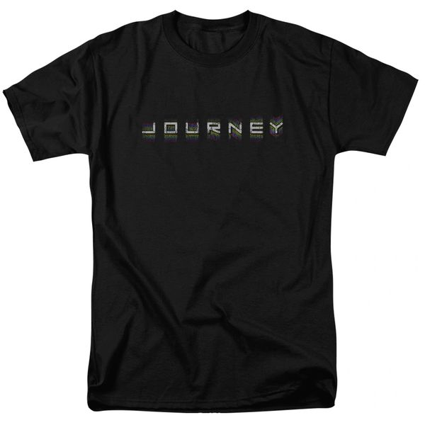 Journey Repeat Logo Black 100% Cotton Short Sleeve Adult T-shirt