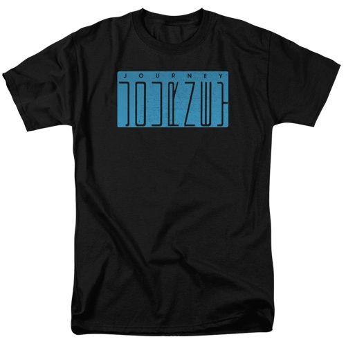 Journey Escape Logo Black 100% Cotton Short Sleeve Adult T-shirt