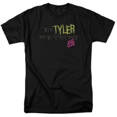 Fight Club In Tyler We Trust Black 100% Cotton Short Sleeve Adult T-shirt