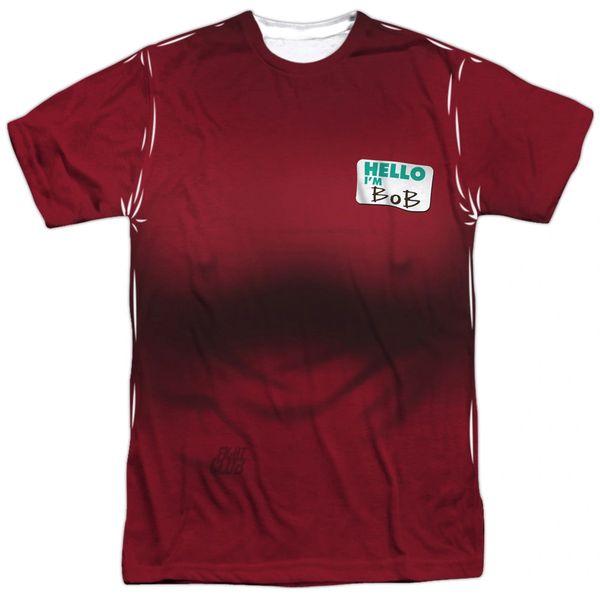 Fight Club Bob Costume White 100% Polyester Short Sleeve Adult T-shirt