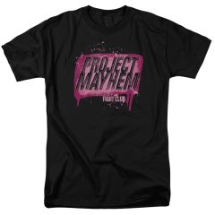 Fight Club Project Mayhem Black 100% Cotton Short Sleeve Adult T-shirt