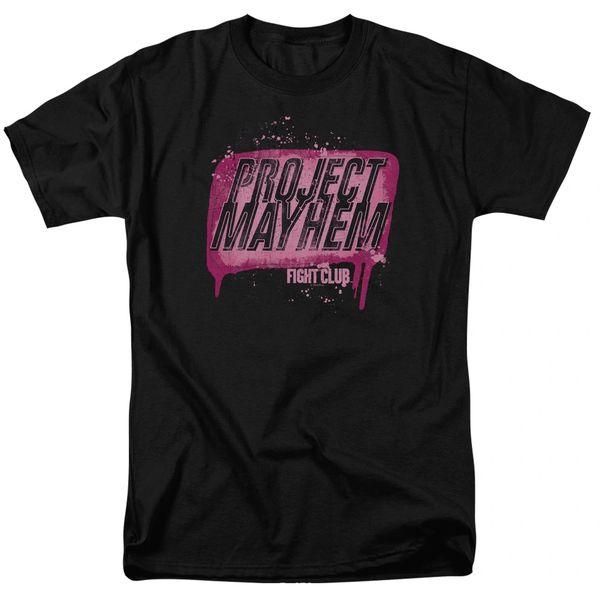 Fight Club Project Mayhem Black 100% Cotton Short Sleeve Adult T-shirt