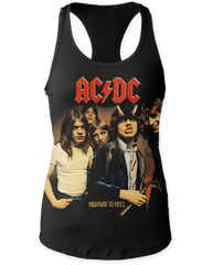 AC/DC Highway to Hell Black Womens Tank Top T-shirt