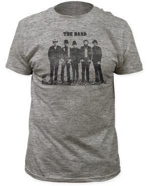 The Band Silhouette Heather Grey 100% Cotton Short Sleeve Adult T-shirt