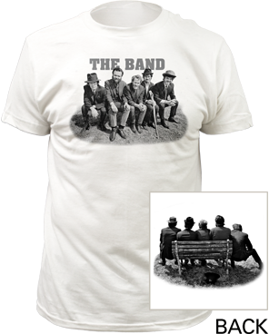 The Band Bench White Cotton Short Sleeve Adult T-shirt