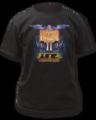 Evil Dead 2 British Poster Black 100% Cotton Short Sleeve Adult T-shirt