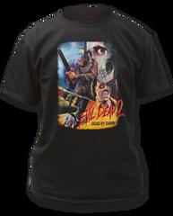 Evil Dead 2 Thai Poster Black 100% Cotton Short Sleeve Adult T-shirt