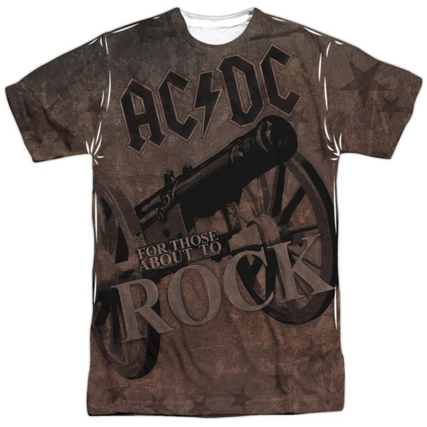 AC/DC We Salute You Front and Back Print Short Sleeve Adult T-shirt