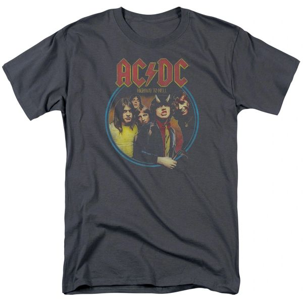 AC/DC Highway to Hell Charcoal Short Sleeve Adult T-shirt
