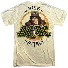 AC/DC Higher Voltage Front and Back Print Short Sleeve Adult T-shirt
