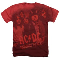 AC/DC On the Highway Red Short Sleeve Adult T-shirt