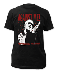 Against Me Reinventing Axle Rose Black Cotton Short Sleeve Adult T-shirt