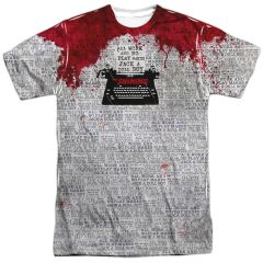 The Shining All Work White Front and Back Print Short Sleeve Adult T-shirt