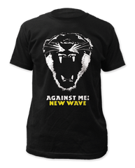 Against Me New Wave Black Cotton Short Sleeve Adult T-shirt