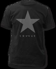 David Bowie Black Star Black Cotton Short Sleeve Adult T-shirt
