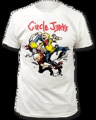 Circle Jerks Thrashers White Cotton Short Sleeve Adult T-shirt