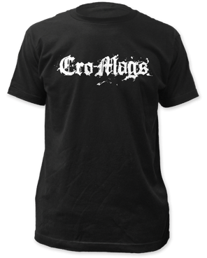 Cro-mags Logo Black Short Sleeve Adult T-shirt
