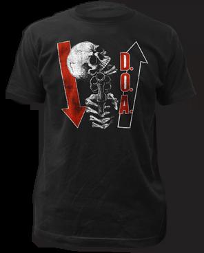 DOA Kill ya Later Black Cotton Short Sleeve Adult T-shirt